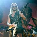 Richie Faulkner of Judas Priest performs on the final night of the band's Firepower World Tour at The Joint inside the Hard Rock Hotel & Casino on June 29, 2019 in Las Vegas, Nevada - 454 x 536