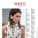 Kendall Jenner – Vogue magazine – March 2020