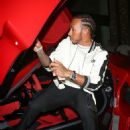 Lewis Hamilton takes his $1.2MILLION Ferrari sports car out for a spin after attending Kevin Hart's 40th birthday party