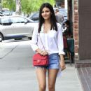 Victoria Justice In Jeans Shorts Out In La