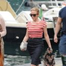 Kylie Minogue wears Dolce & Gabbana - out & about in Portofino, Italy