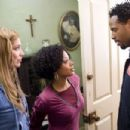 (Left to right) Megan (Shoshana Bush), Charity (Essence Atkins) and her Baby Daddy (Shawn Wayans) in the comic spoof 'Dance Flick.'