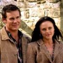 Aaron Jeffery and Michelle Langstone