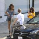 Selena Gomez spotted leaving Shamrock Tattoo in Hollywood April 9, 2017