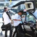 Jaden Smith is spotted shopping on Melrose in Los Angeles, California with a friend on October 14, 2016 - 454 x 549