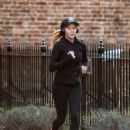 Amanda Holden in Tights Jogging in London - 454 x 632