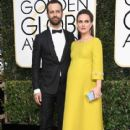Natalie Portman and Benjamin Millepied : 74th Annual Golden Globe Awards - 415 x 600