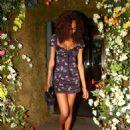 Jourdan Dunn in Mini Dress – Leaving the Ivy Chelsea in London - 454 x 600