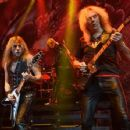 Richie Faulkner and Glenn Tipton of Judas Priest perform at The Pearl Concert Theater at the Palms Casino Resort on November 14, 2014 in Las Vegas, Nevada - 454 x 353