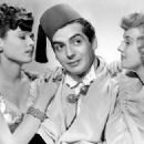 Jean Tierney & Phyllis Brooks With Victor Mature