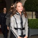 Alicia Vikander – Arriving at Miu Miu SS 2020 Show in Paris