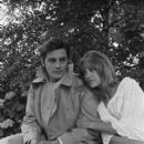 Nathalie Delon and Alain Delon - 394 x 594