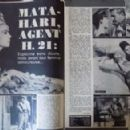 Mata Hari, agent H21 - Cine Tele Revue Magazine Pictorial [France] (25 February 1965) - 454 x 292