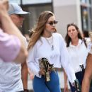 Gigi Hadid – Steps out of her apartment in NYC