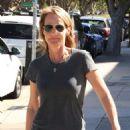 Helen Hunt Leaving Starbucks In La