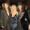 Joe Perry and Billie Montgomery w/ Steven Tyler - 454 x 417