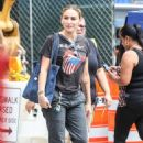 Drea de Matteo – In a Rolling Stones t-shirt out in NYC - 454 x 681