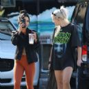 Vanessa Hudgens in Orange Tights – Heads at Halloween store in LA