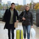 Gemma Atkinson and Aljaz Skorjanec – Arriving for dance rehearsals at a studio in Manchester - 454 x 573
