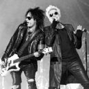 Nikki Sixx and James Michael of Sixx:A.M. perform at The Joint inside the Hard Rock Hotel & Casino on April 10, 2015 in Las Vegas, Nevada