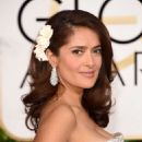 Salma Hayek 72nd Annual Golden Globe Awards In Beverly Hills