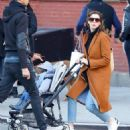 Anne Hathaway with husband Adam – Out in Chelsea in New York City - 454 x 512