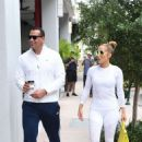 Jennifer Lopez in White Tights with Alex Rodriguez at a Gym in Miami - 454 x 700