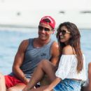 Real Madrid star Cristiano Ronaldo giggles with brunette beauty on holiday Ibiza after Eiza Gonzalez slams romance - 454 x 627