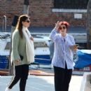 Sharon and Aimee Osbourne out in Venice - 454 x 604