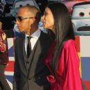 Formula 1 race car driver/actor Lewis Hamilton (L)and actress/recording artist Nicole Scherzinger attend the Premiere of Walt Disney Pictures'