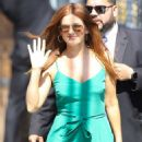 Isla Fisher – Arrive at 'Jimmy Kimmel Live' in Hollywood
