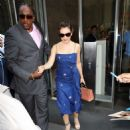 Alyssa Milano – Leaves her hotel in New York City