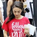 Mila Kunis – Heads out of Joan's on Third in Studio City - 454 x 645