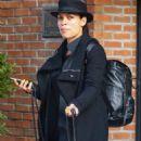 Rosario Dawson – Catching a cab in New York - 454 x 681