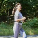 Davina McCall – Jog in a country park in Kent - 454 x 697