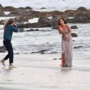 Ana de Armas – Seen while shooting a commercial on the beach in Malibu