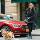 Mischa Barton with her dogs in New York City