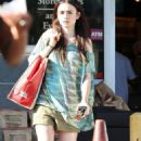 Lily Collins shopping at Whole Foods and Target in Los Angeles, California (July 22)