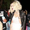 Bella Thorne – Arrives to Halloween party in Los Angeles