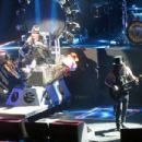 Axl Rose with a broken foot at T Mobile Arena in Las Vegas on April 8, 2016