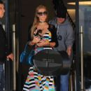 Paris Hilton in Long Dress at Barney's New York in LA
