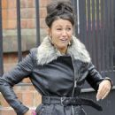 Michelle Keegan wraps up in two coats during filming... but is still without her engagement ring as it gets resized  Read more: http://www.dailymail.co.uk/tvshowbiz/article-2427314/Michelle-Keegan-wraps-coats-filming--engagement-ring-gets-resized