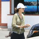 Alessandra Ambrosio in Leggings at a Nail Salon in Brentwood - 454 x 569