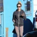 Ashley Tisdale Leaving Pilates Class In Studio City