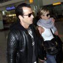 Jennifer Aniston & Justin Theroux's Heathrow PDA