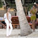 Bella Hadid – wearing white in St. Barts