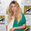 Actress Sarah Carter speaks onstage at the