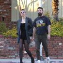 Mia Goth and Shia LaBeouf – Out in Los Feliz - 454 x 525