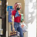 Brittany Furlan – Picking up drinks from the grocery store in LA