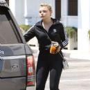 Chloe Moretz exiting a spa in Studio City